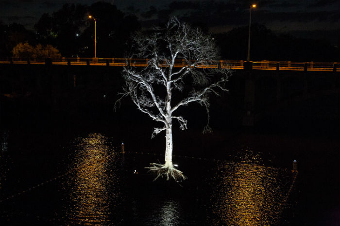 «THIRST» («ЖАЖДА») - экологическая инсталляция в центре озера