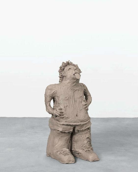 Одна из скульптур Урса Фишера, представленная на выставке в Нью-Йорке
