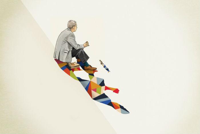Рисунки Рэтлиффа отлично вписываются в современные представления о коммерческой иллюстрации