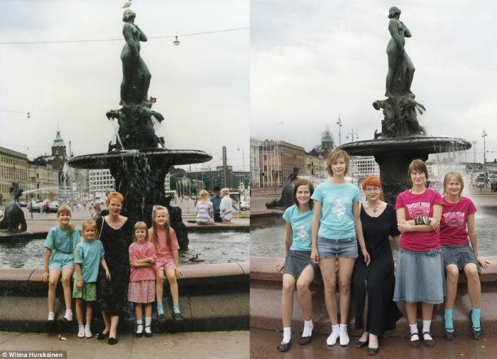 Тогда и сейчас: увлекательный фотопроект о взрослении четырёх сестёр
