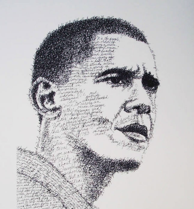 Барак Обама в исполнении американского художника Джона Сокола