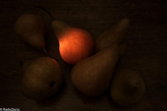Свечение, исходящее от съедобных «ламп», естественным образом различается по цвету