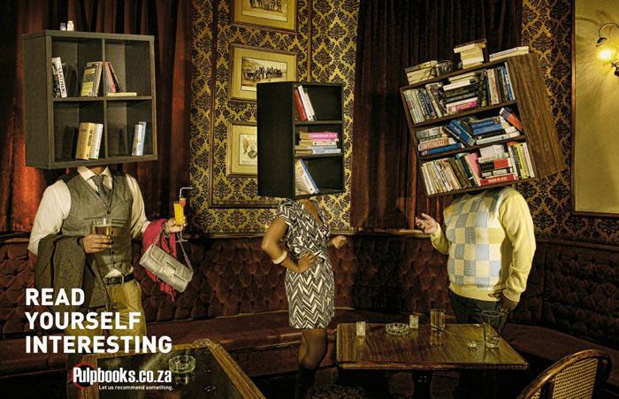 Реклама книжного интернет-магазина Pulp-books