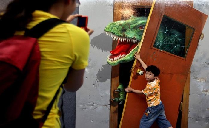 Выставка объемных картин в г. Циндао, Китай
