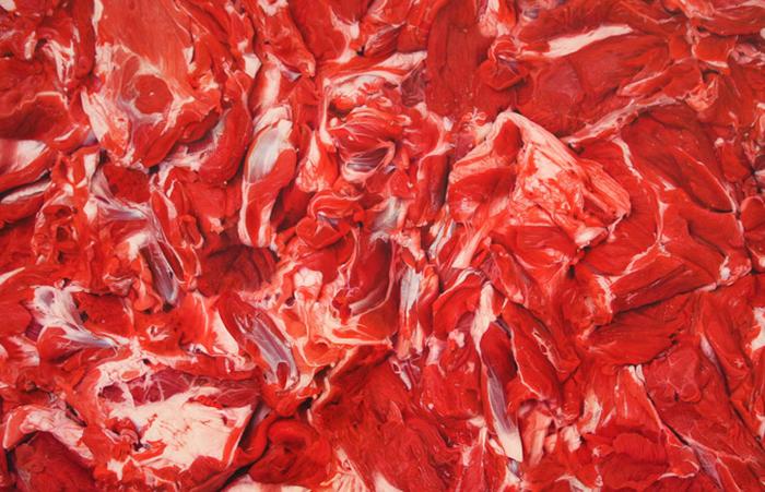 Картина Марка Куинна. Изображение мяса