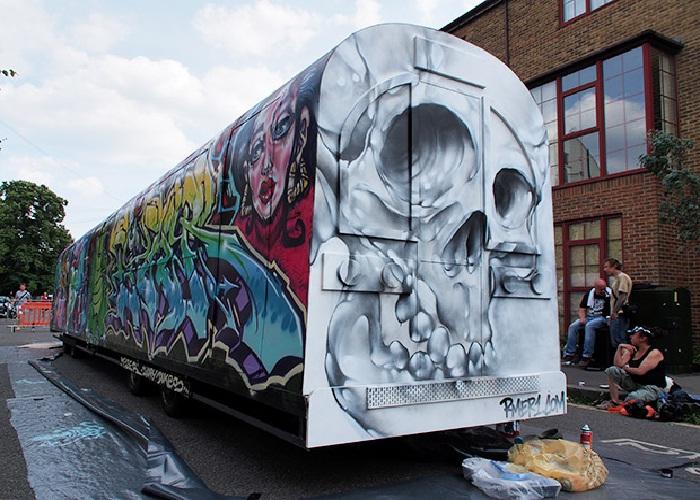 Фестиваль стрит-арта в Брикстоне, г. Лондон