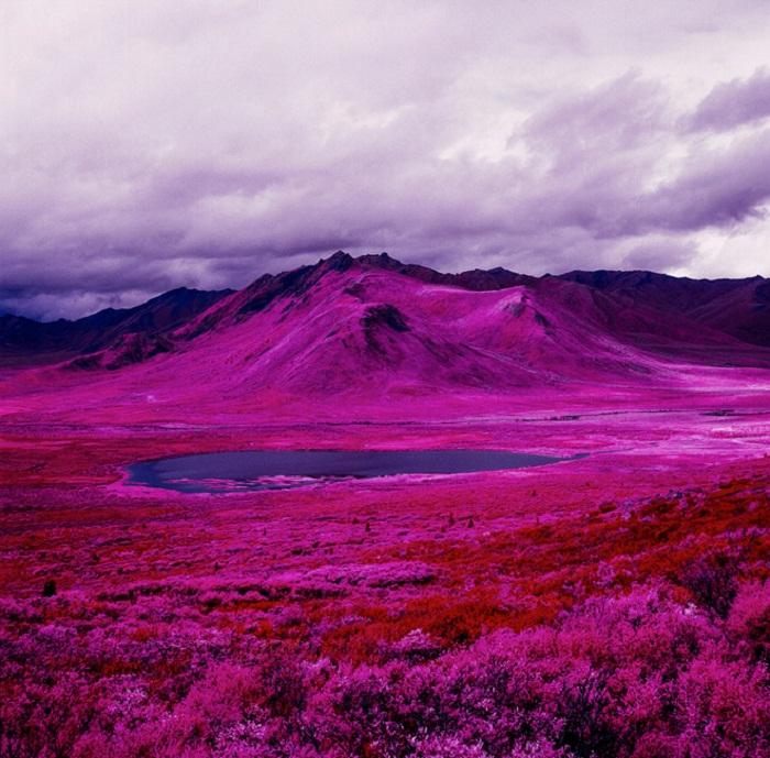 Инфракрасные ландшафты Арктики.