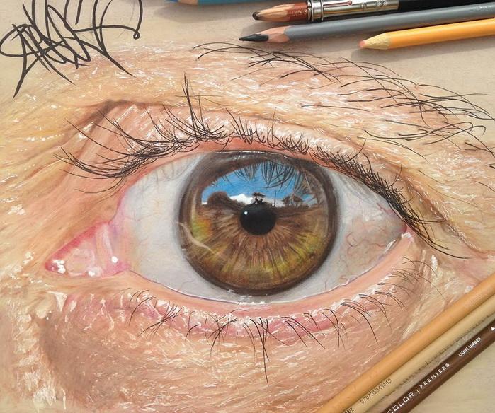 Гиперреалистичные изображения глаз от Redosking