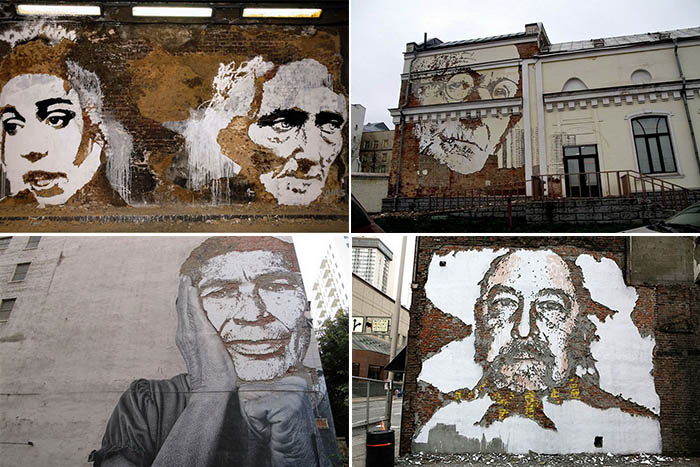 портреты на стенах