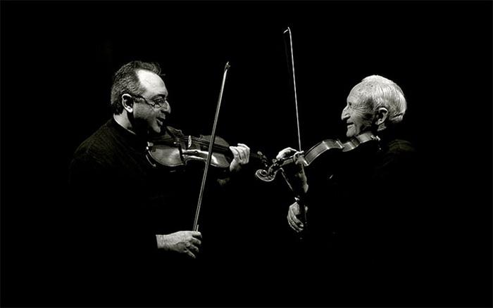 скрипачи: отец и сын