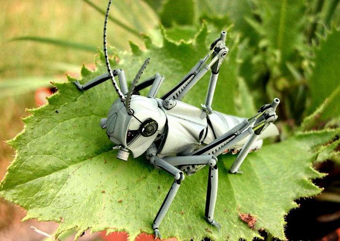 реалистичные 3D-роботы в стиле ретрофутуризм