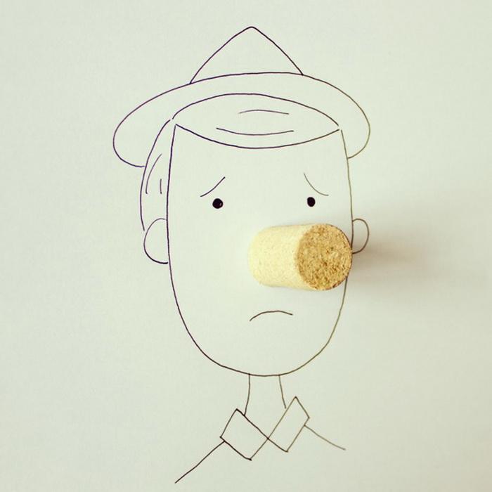 палка, палка, огуречек, вот и вышел человечек: серия юмористичных карикатур