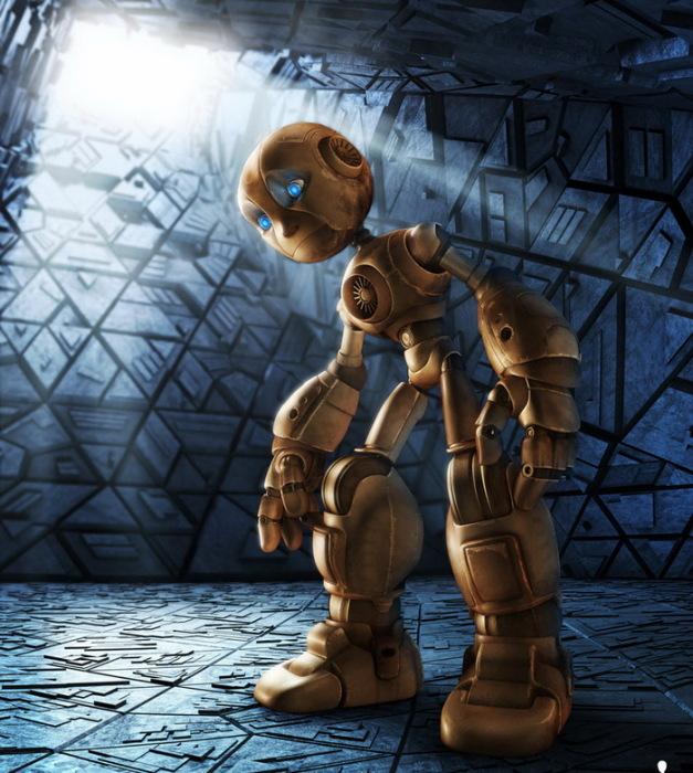 3D-роботы в стиле ретрофутуризм