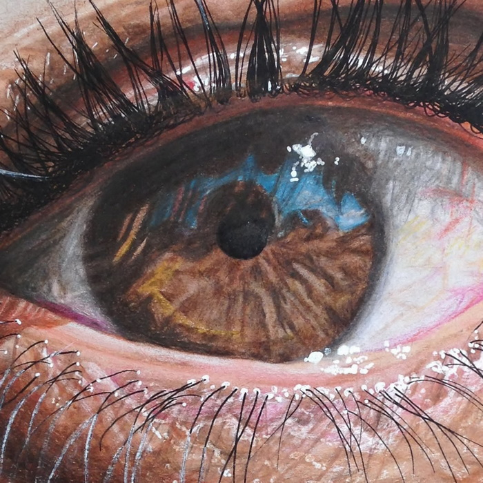 Реалистичные рисунки глаз