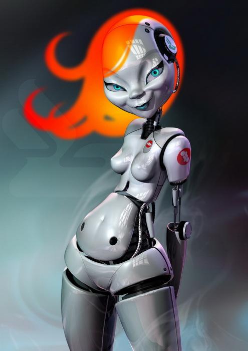 3D-роботы в стиле ретрофутуризм от современных художников