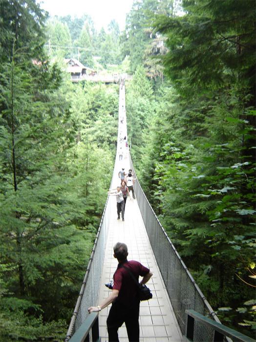 Мост Capilano в Ванкувере.