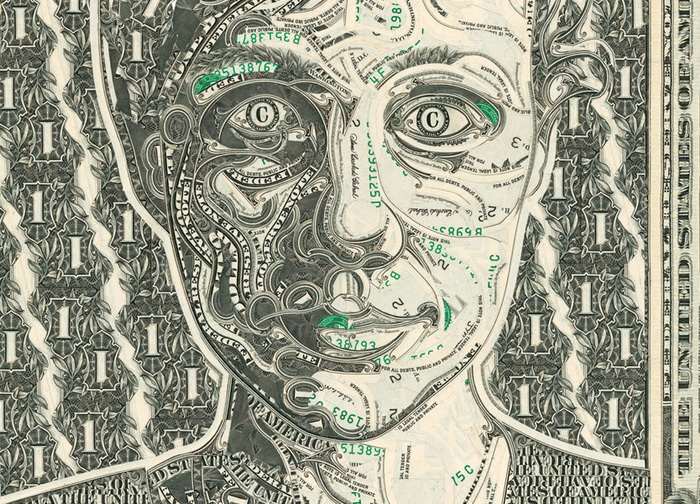 Долларовые коллажи от знаменитого художника Mark Wagner
