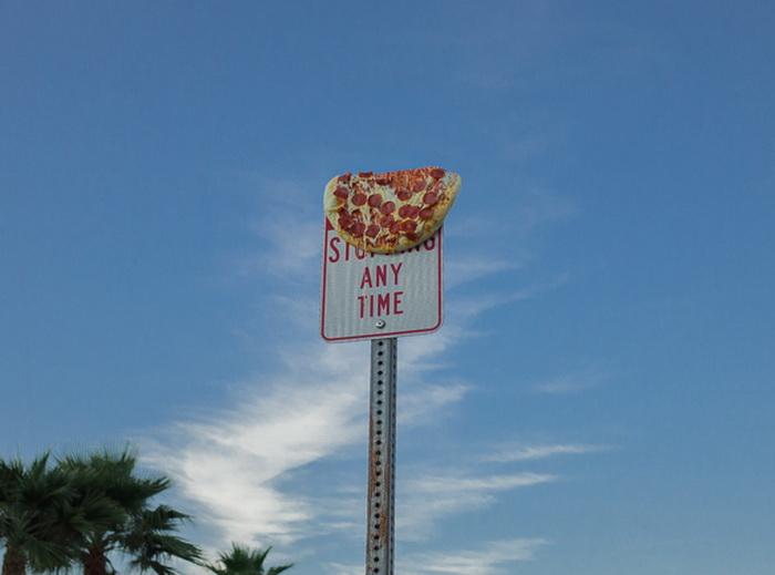Пицца в необычной роли.