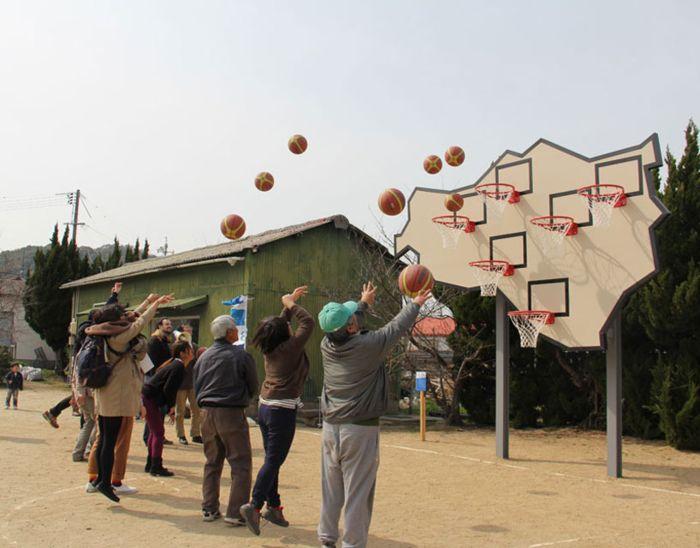 Баскетбольный с 6 корзинами