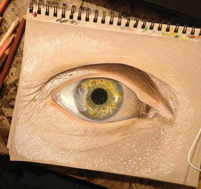Гиперреалистичные изображения глаз от художника Redosking