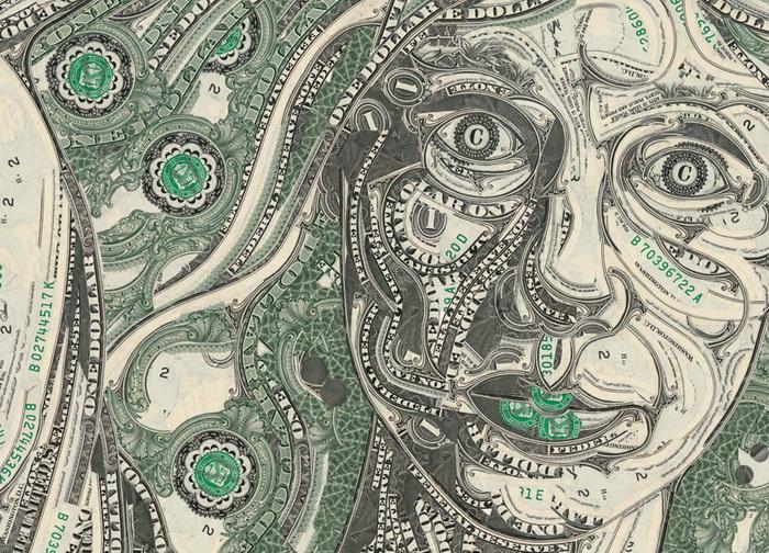 уникальные долларовые коллажи