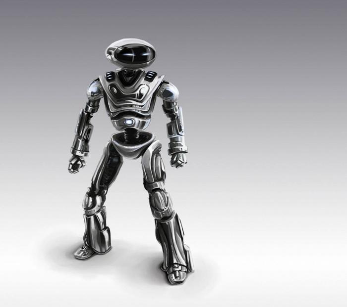 3D-роботы в современном стиле ретрофутуризм