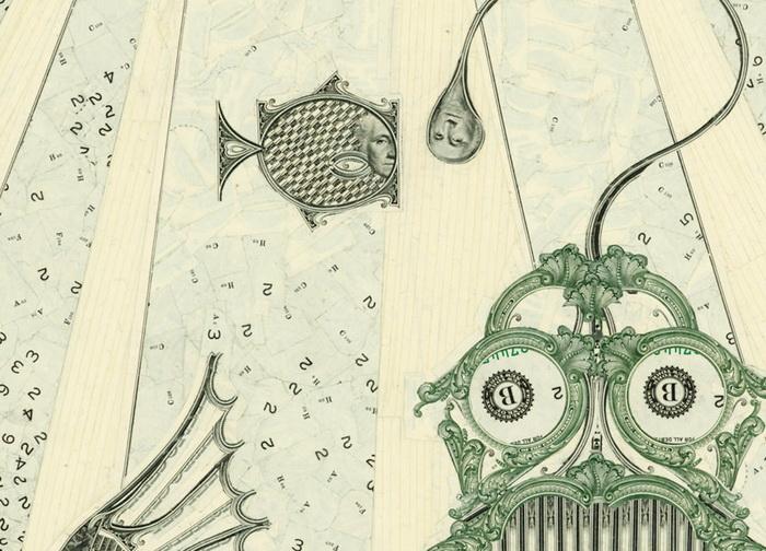 оригинальные долларовые коллажи от Mark Wagner