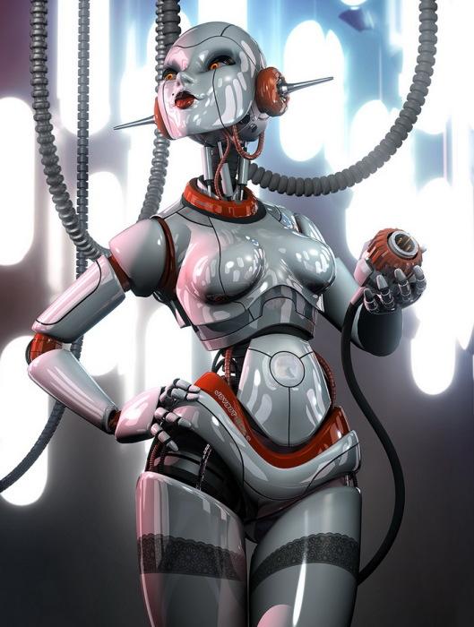 роботы в современном стиле ретрофутуризм