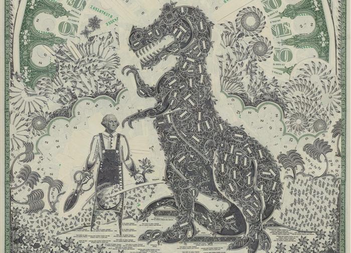 уникальные долларовые коллажи от иллюстратора Mark Wagner