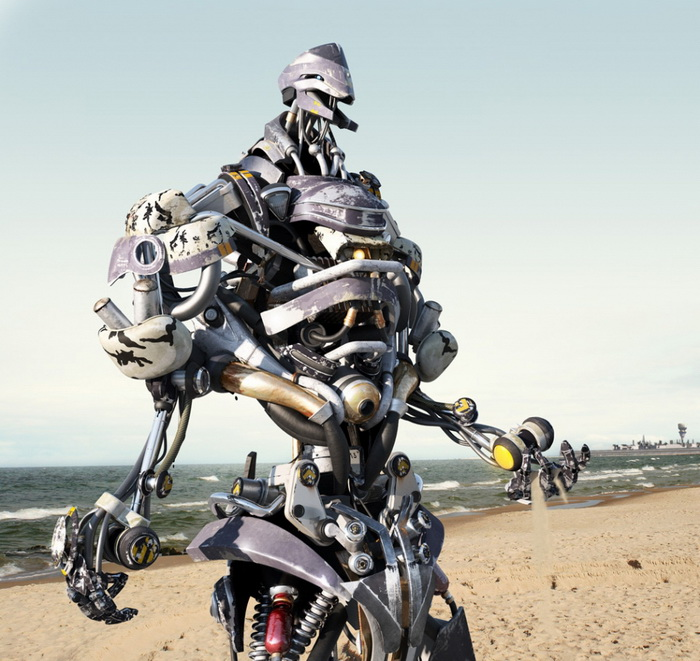 3D-роботы от всевозможных художников