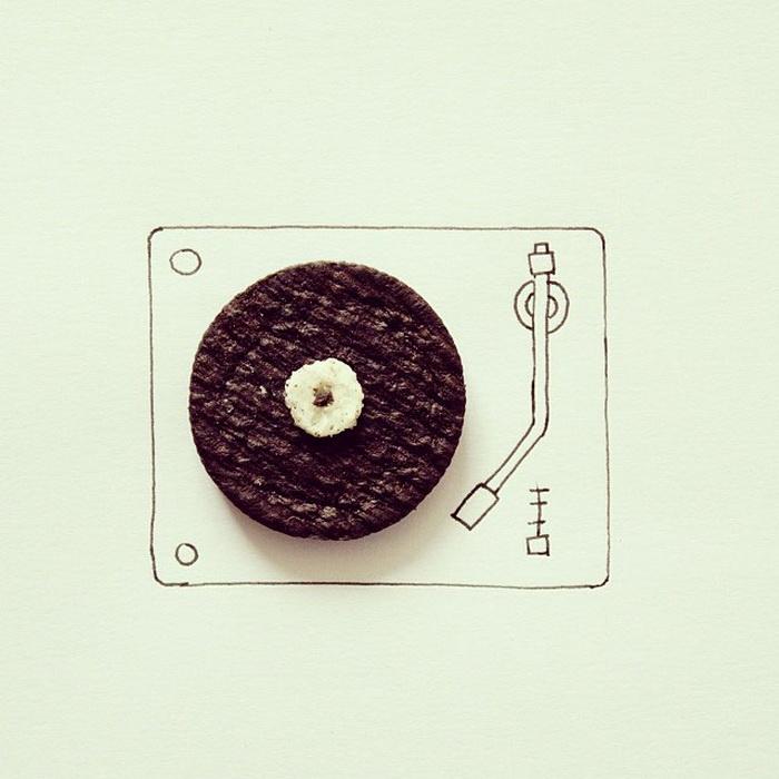 Пластинка из печенья от Javier Perez