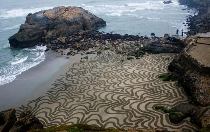 Искусство на мокром песке