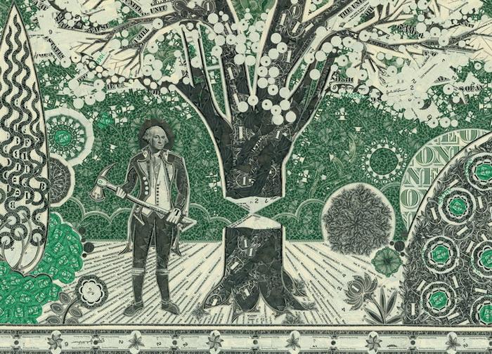 Долларовые коллажи от художника Mark Wagner
