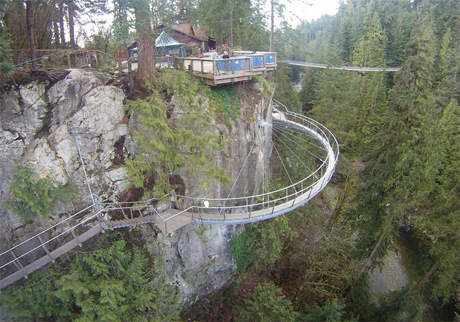 Оригинальный подвесной мост Capilano.