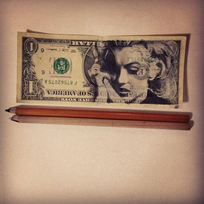 Портреты на долларовых купюрах от художника Ashish Patel