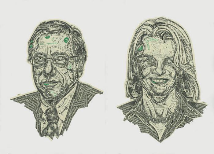 Mark Wagner: долларовые коллажи
