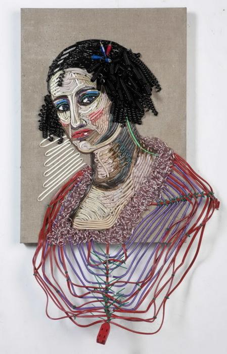 Картины из цветной проволоки от художника Federico Uribe