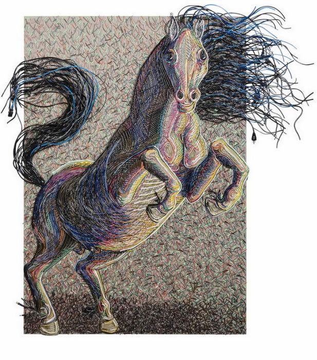 Картины из цветной проволоки от художника-концептуалиста Federico Uribe