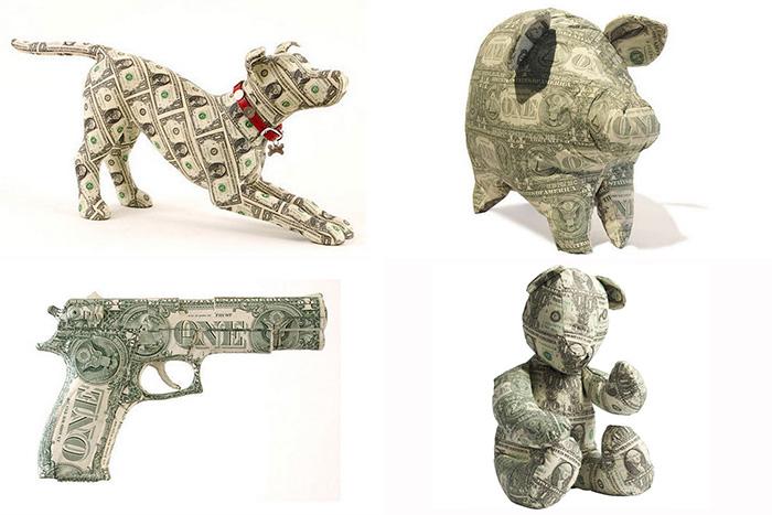 долларовые скульптуры от Джонни Свинга и Марка Вагнера