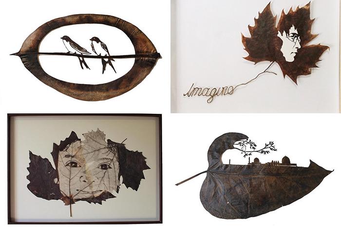 Резьба по листьям от художника Lorenzo Manuel Duran