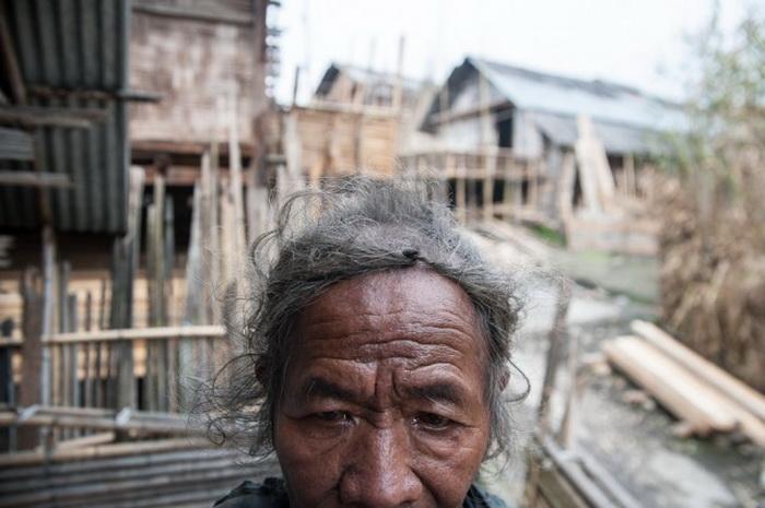 Жительница племени Apatanis.