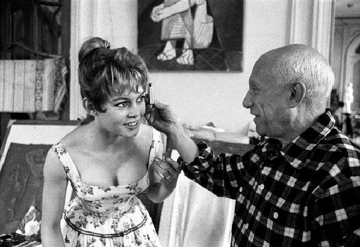 Бриджит Бардо и Пабло Пикассо.