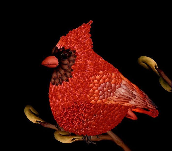 Cecelia Webber: птицы и насекомые из обнаженных человеческих тел
