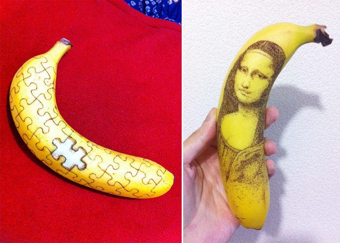 Картины на банановой кожуре