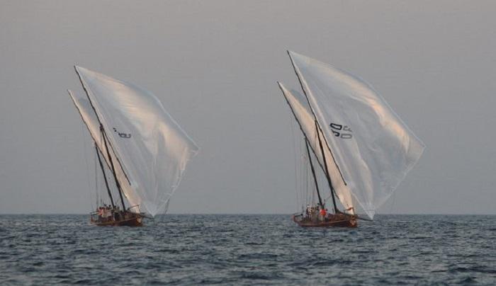 Гонки арабских лодок «доу» Al Gaffal.