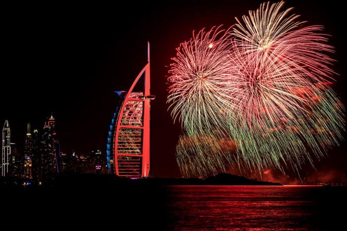 Dubai: фейерверки, попавшие в книгу рекордов Гиннеса