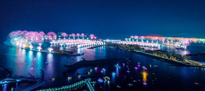 Фейерверки в городе Dubai