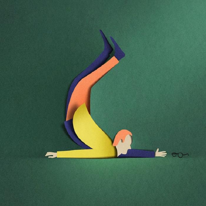 Шедевры из цветной бумаги от Eiko Ojala.
