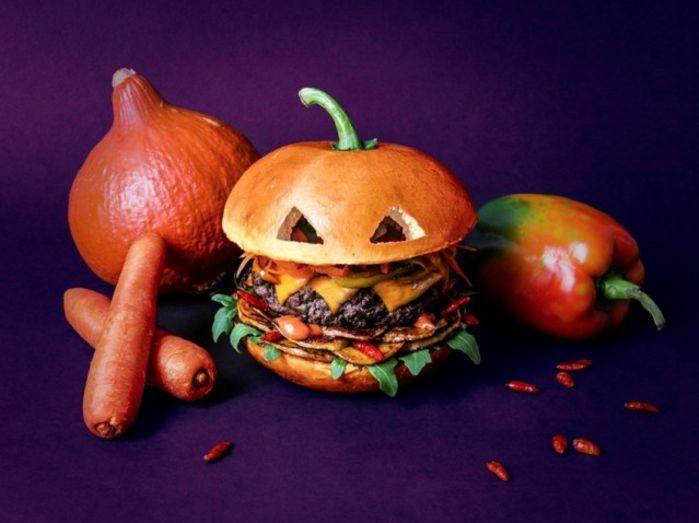 оригинальные бургеры к Хэллоуину