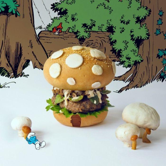 бургер-гриб от Quentin and Thomas